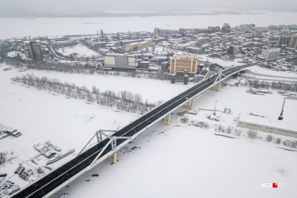 Движение по Самарскому (Фрунзенскому) мосту открыли в конце 2019 года