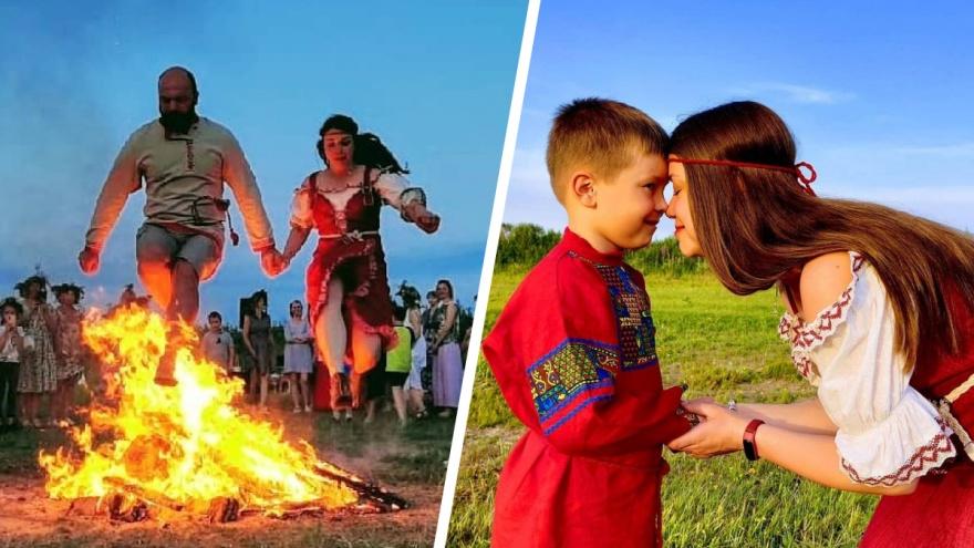 «Чтобы не сойти с ума, доверять этому миру, радоваться жизни»: семья из Архангельска отметила Иванов день