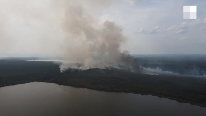 Масштабы огромные: как выглядят пожары под Екатеринбургом с высоты птичьего полета