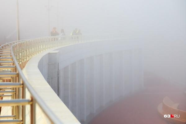Видимость при тумане будет очень плохая