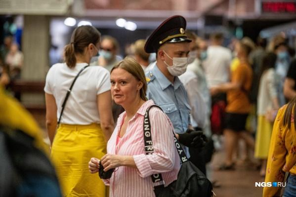 Рейд прошел вечером на станции метро «Площадь Ленина»