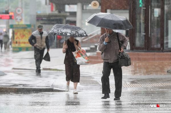 Непогода и дожди продержатся в Волгограде как минимум до утра пятницы