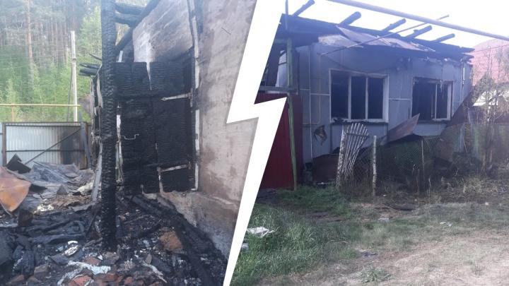 В Красноуфимске во время пожара в доме погибли три человека