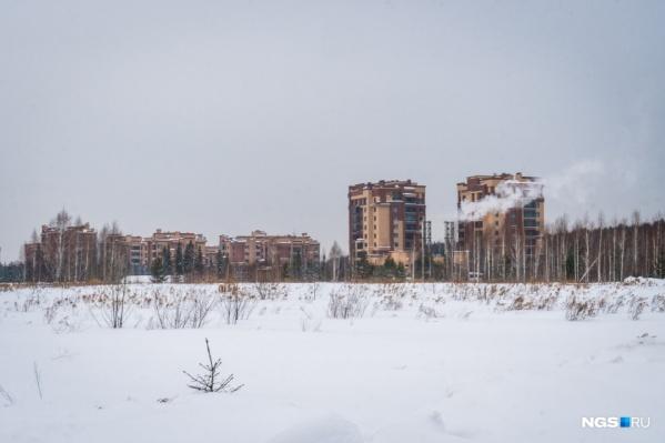 Новостройки появятся на пустом участке между домами «Кедрового» и улицей Легендарной