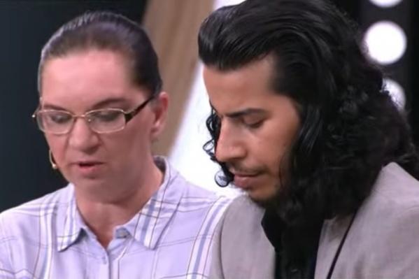 Обгоревший студент из Ирака Марван и его супруга Любовь стали героями шоу «Прямой эфир»
