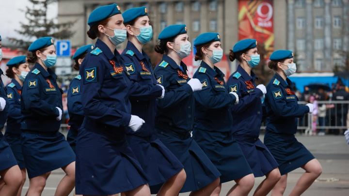 Парад, которого не было: в Красноярске прошло торжественное шествие в честь Дня Победы