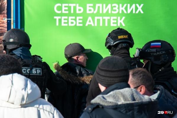 Момент задержания Александра Колодешникова