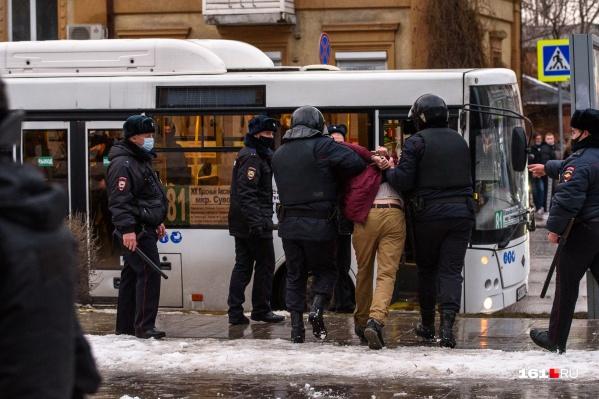23 января в Ростове задержали около 75 человек