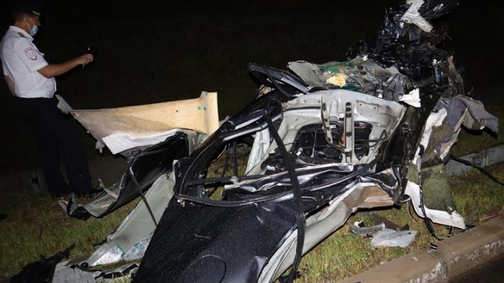 «Мазду» разорвало на две части. В страшном ДТП в Адыгее погибли два человека