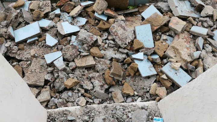 В Волгограде балкон рухнул вместе с 64-летней пенсионеркой