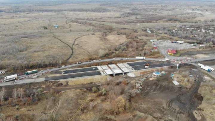«Работы максимум на месяц»: темпы строительства моста на М-5 у Белозерок удивили самарцев (видео)