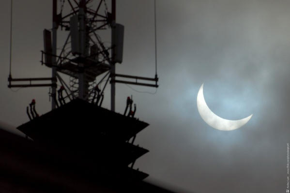 Так солнечное затмение выглядело в 2015 году