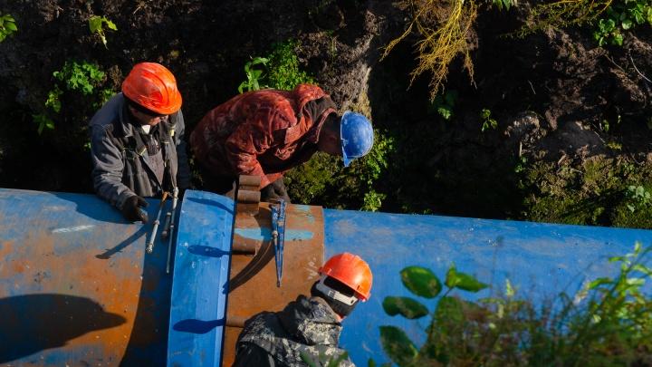 Масштабы работ на «тысячнике»: фото у стройки, из-за которой Архангельск остался без воды