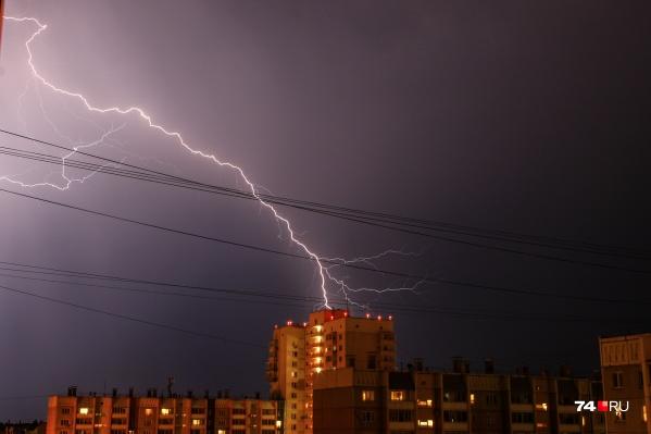 В некоторых городах региона прошли гром и молния, но дождя при этом не было