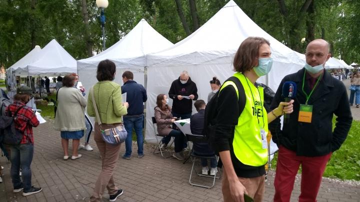 В Петровском парке делают прививки от коронавируса: прямой эфир 29.RU