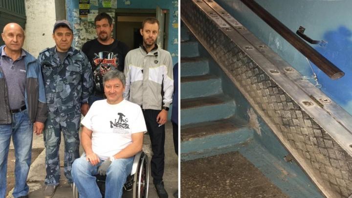 Пандус, украденный в Челябинске у серебряного призера Паралимпиады, нашли на приемке металла