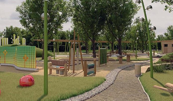В Красноярске начали строить самую большую в городе детскую площадку