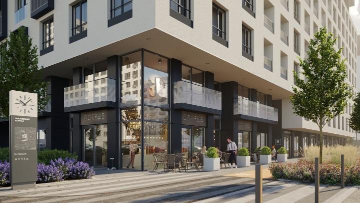 Прозрачные балконы, двухэтажный ритейл и живая изгородь вместо забора: каким будет новый дом вТюмени