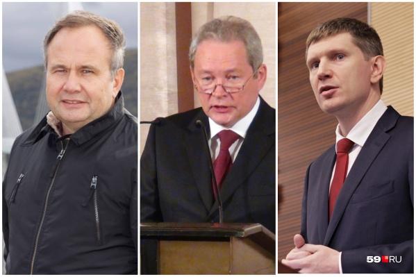 Три бывших губернатора Прикамья: Олег Чиркунов, Виктор Басаргин и Максим Решетников