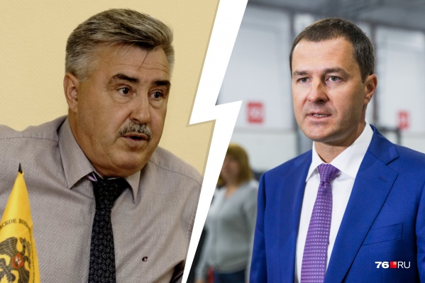 Владимир Волков (справа) пригрозил Анатолию Каширину судом