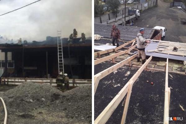 Крышу после крупного пожара жители Мартюша восстанавливают собственными силами