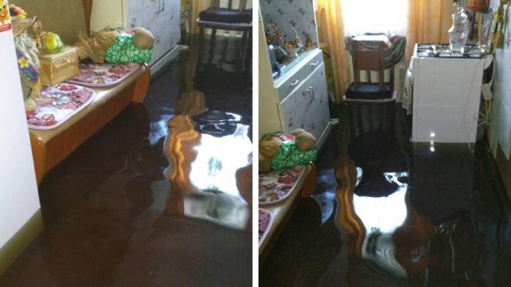Затопило даже холодильник: на окраине Архангельска люди несколько дней живут по колено в воде