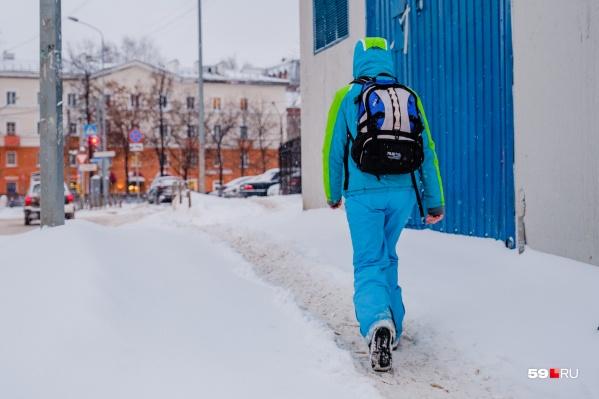 Несмотря на отсутствие морозов, будет снежно и ветрено. Утепляйтесь!
