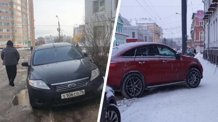 Не уважая себя и окружающих: как паркуются водители в Ярославле. Топ дерзких