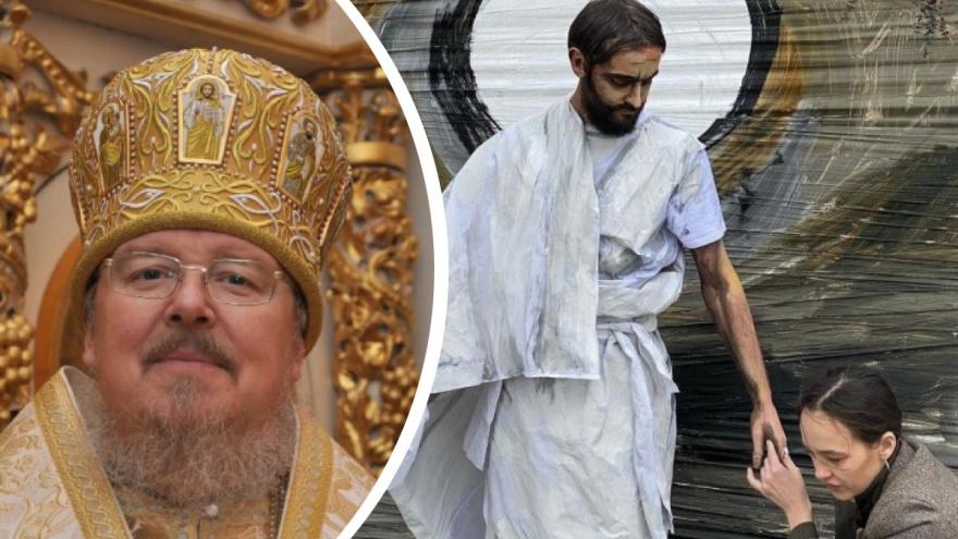 «Это кощунство!»: митрополит Пантелеимон впервые прокомментировал перформанс с Иисусом на набережной