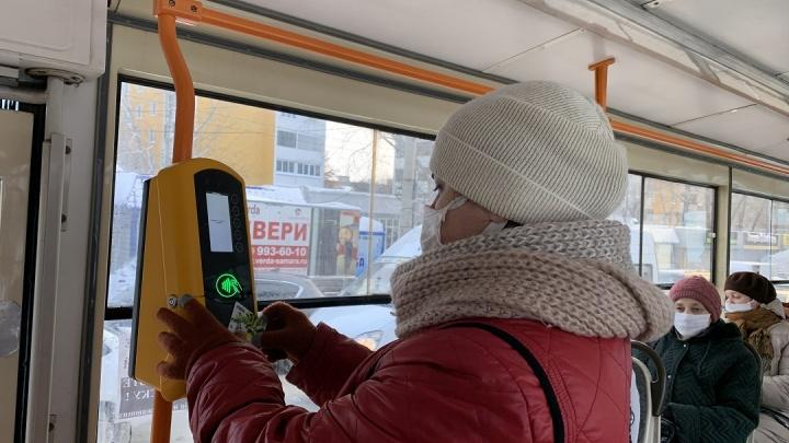 В Самаре установили терминалы для оплаты проезда в трамваях №20 и 22