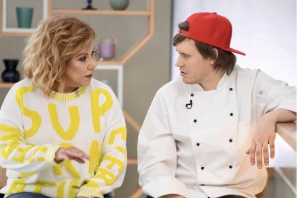 Марина Федункив со своим напарником шеф-поваром Евгением Плотниковым