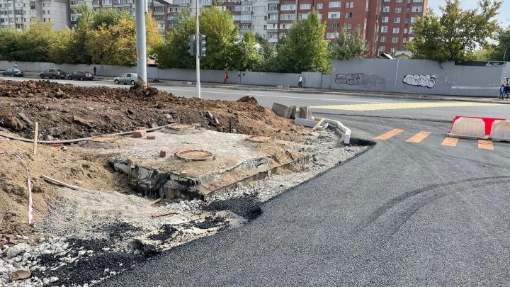 Улицу Комсомольскую в Уфе не сдали в срок. В мэрии объяснили почему