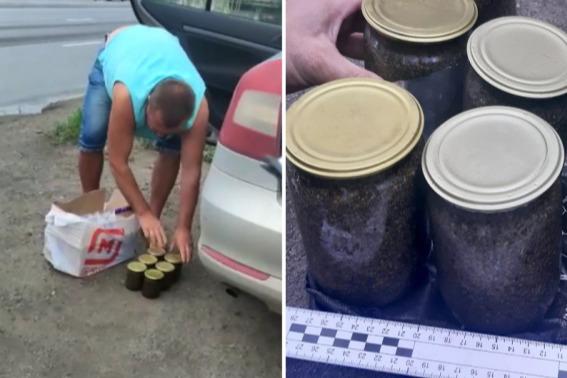 «Я на рынке покупал»: полиция забрала из машины волгоградца восемь банок с черной икрой