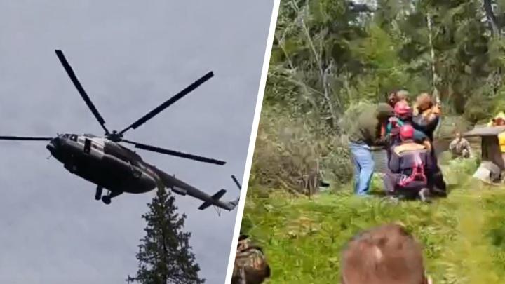 Все было как в кино. Поисковики сняли на видео, как пропавшего в тайге Кирилла спасал вертолет
