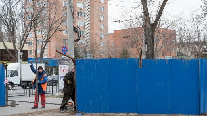 В Ростове законсервировали строительство подземного перехода на Шолохова и опять ищут подрядчика