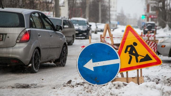 В Архангельске на пять дней частично перекрыли движение на проспекте Ломоносова