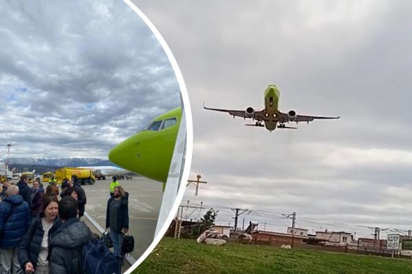 Самолет приземлился в 12:22 по сочинскому времени