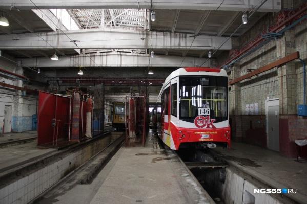 Сейчас в Омске работает лишь одно трамвайное депо