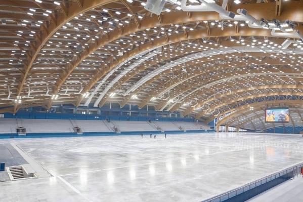 Так ледовый дворец «Кузбасс» выглядит изнутри