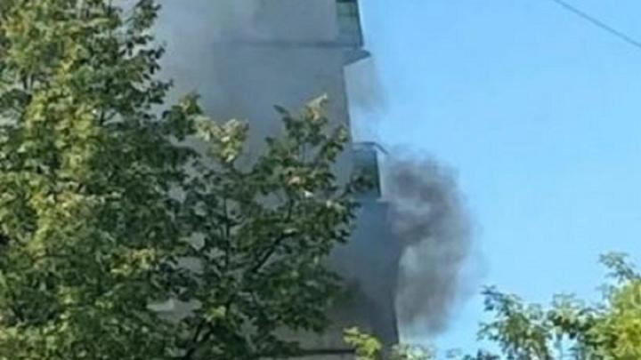 В пермской многоэтажке произошел пожар
