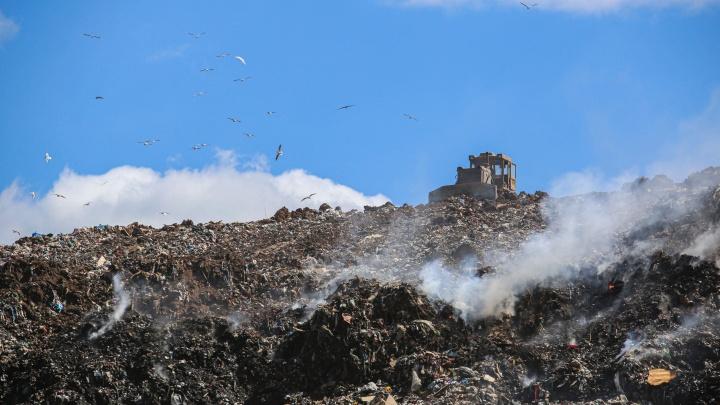 Пожар на свалке в Уфе, который длился четыре дня, ликвидирован