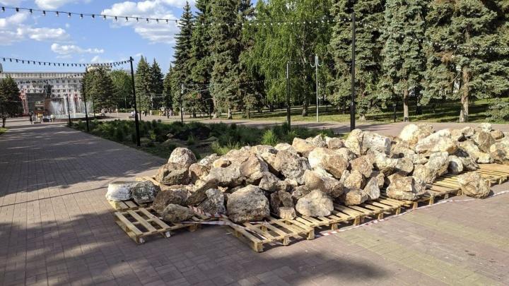 «Драмтеатр пустит корни»: на площади Революции обустроят каменистый луг