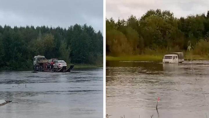 «Это треш»: жителям Верхней Тоймы пришлось штурмовать реку вброд на машинах или платить за эвакуатор