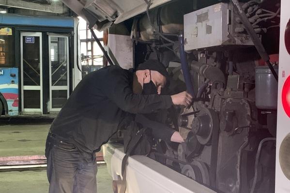В автобусах регулируют системы подачи тепла