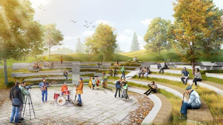 В мэрии Екатеринбурга выбрали парки, которые благоустроят в следующем году. Показываем эскизы