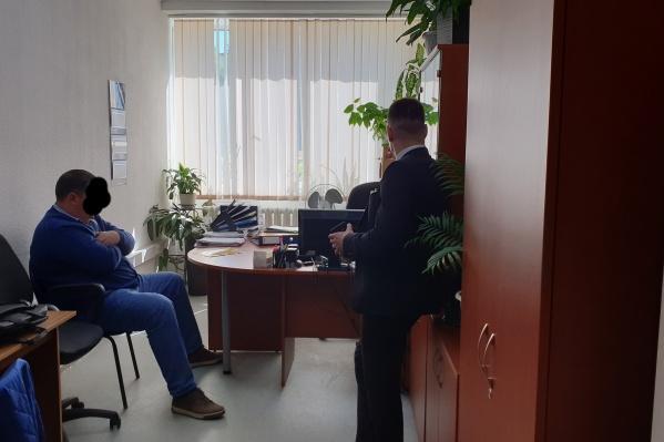 Следственный комитет опубликовал фотографию с задержания Эдуарда Болтенкова