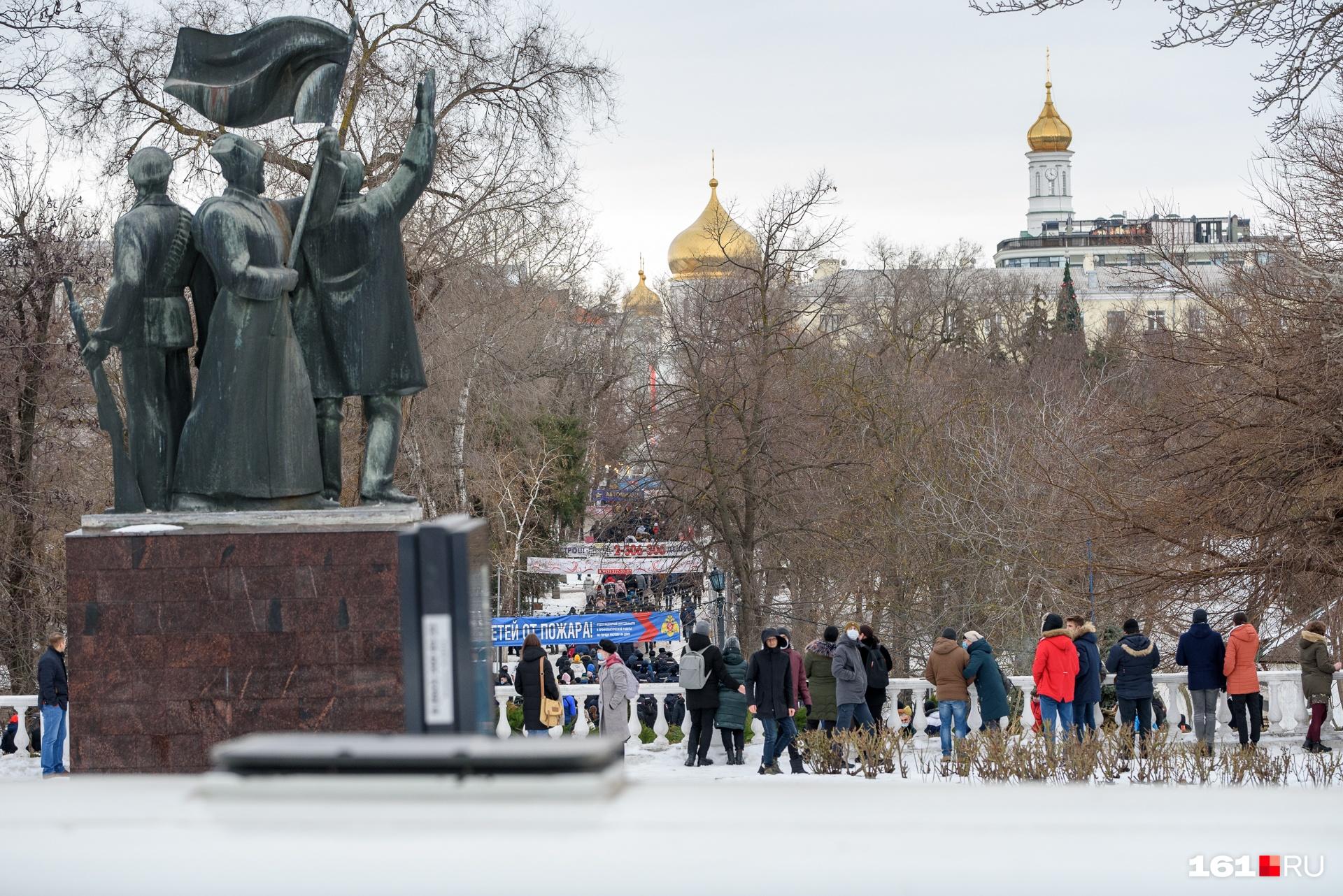 После этого колонна митингующих отправилась к парку Горького