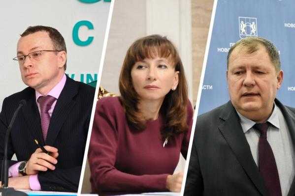 Слева направо: Юрий Петухов, Наталья Омелёхина, Сергей Сёмка. Их доходы за год оказались даже выше, чем у губернатора