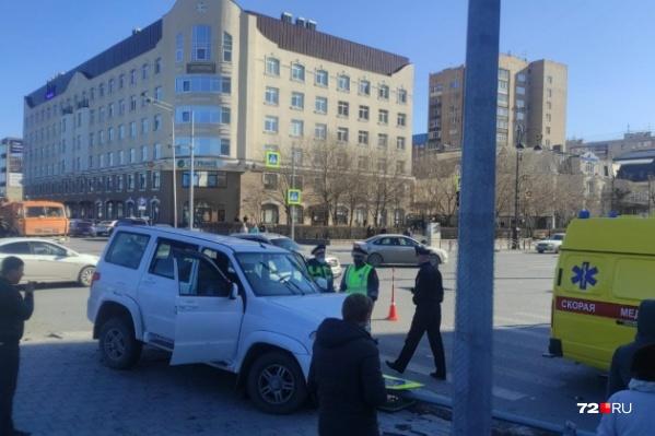 Пострадавших с места аварии увезли в больницу