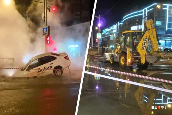 Инцидент произошел напротив ТЦ «Парк Хаус», на перекрестке улиц Учителей — Сулимова